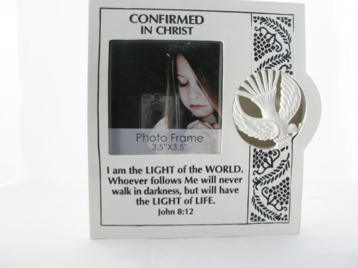 Confirmed in Christ Lighted Resin Photo Frame