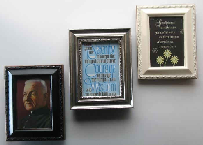 Small Frame with Picture or Prayer