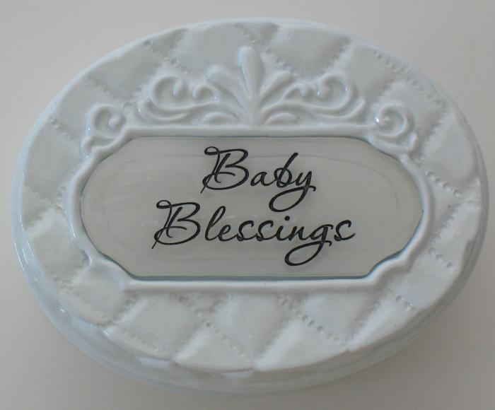Baby Blessings Trinket Box with Lid