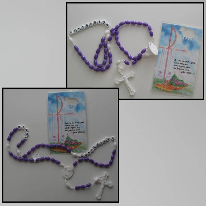 Confession Rosary and Prayer Card