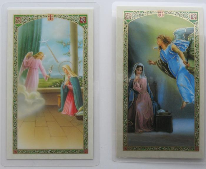 Annunciation Laminated Prayercard - The Angelus