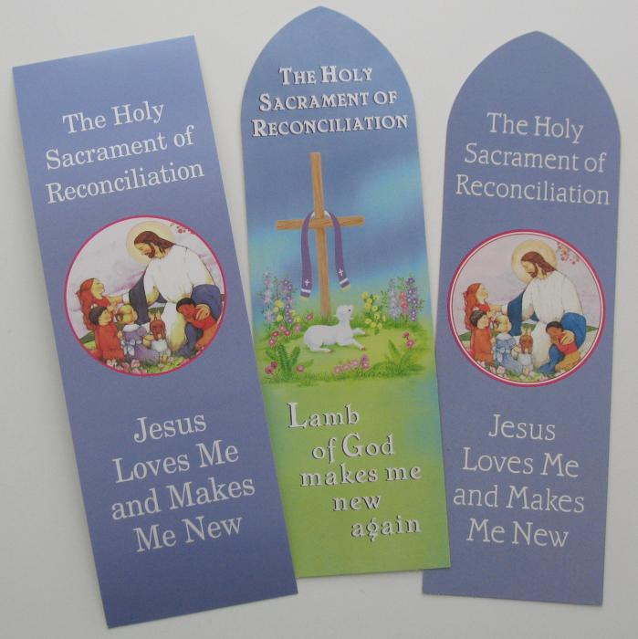 Reconciliation Bookmarks - Act of Contrition - Paper ( Cardstock)