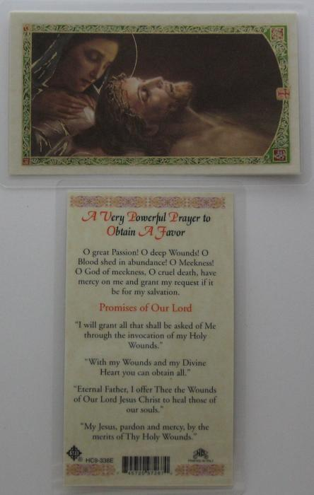 A Very Powerful Prayer to Obtain a Favor Laminated Prayer Card