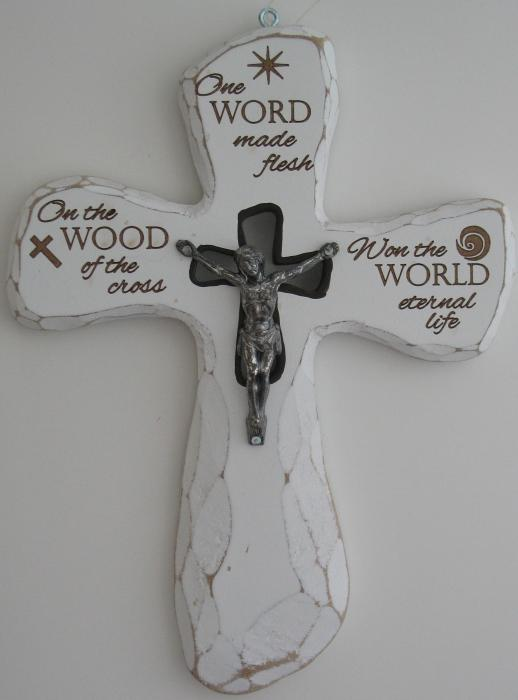 Crucifix - One WORD made flesh On the WOOD of the cross Won the WORLD eternal life