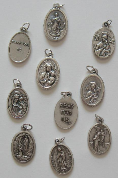 Our Lady  Oxidized Medals - Assorted Titles