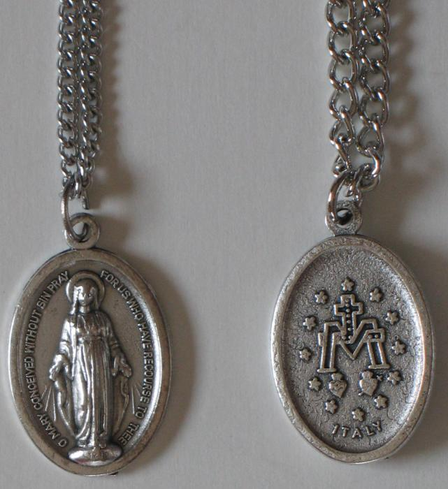 Inexpensive Miraculous Medal on Chain