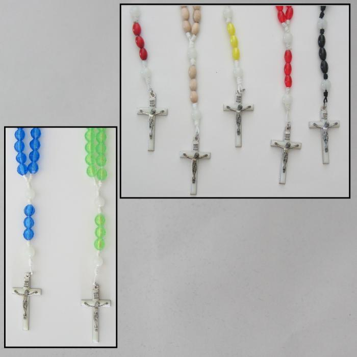 Cord Rosary with Luminous Crucifix and Our Father Beads