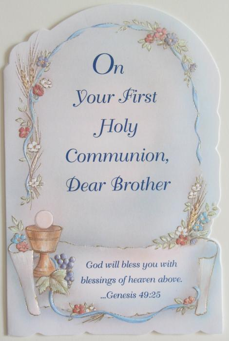 Brother First Communion Greeting Card