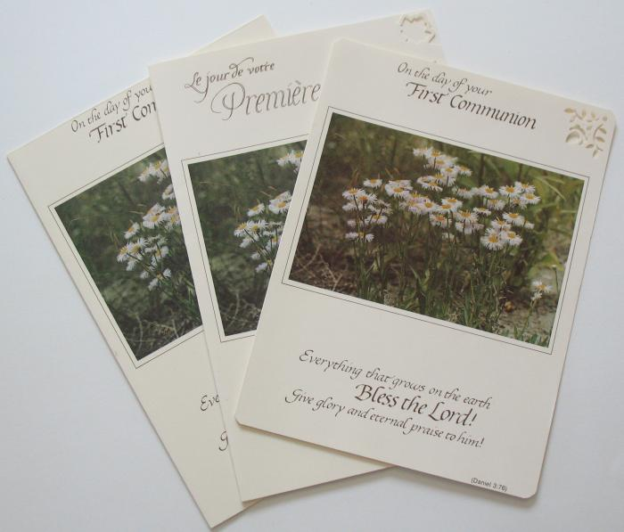 First Communion Greeting card - English or French