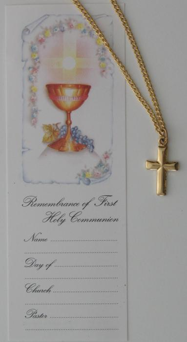 Cross with Chain and Sm Bookmark