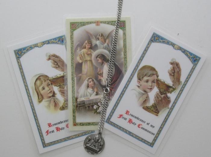 Communion Pendant with Chain and Prayer Card