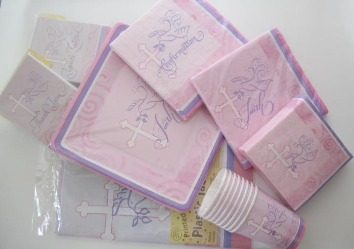 Party Supplies-  Faithful Dove Pink