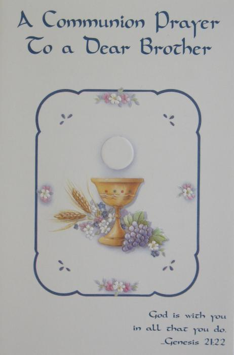 Brother Communion Greeting Card