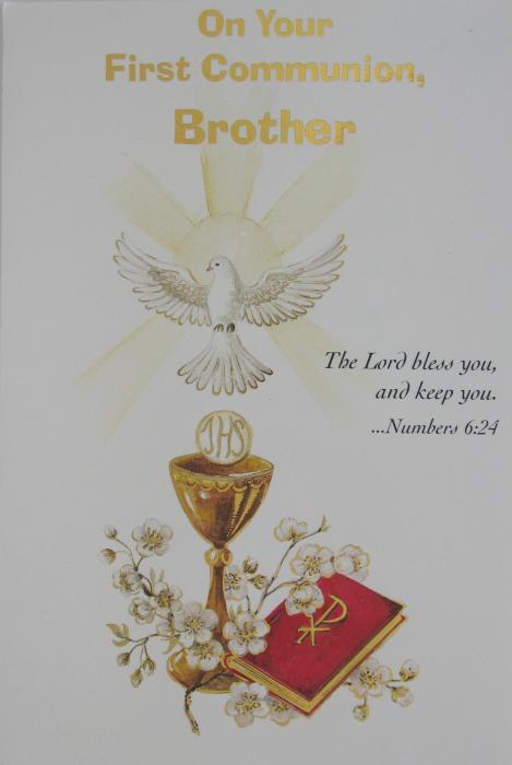Brother - First Communion Greeting Card