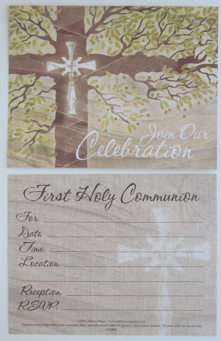 First Communion Invitations - package of 10 with envelopes