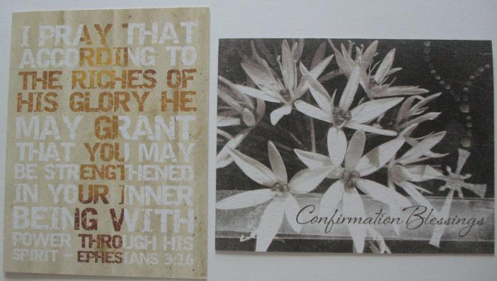 Confirmation Greeting Cards by snail's pace