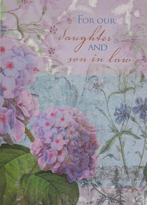 Anniversary Greeting Card - For Daughter and Son in Law