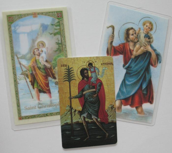 St. Christopher Prayercard - Footprints or Prayer to or Icon