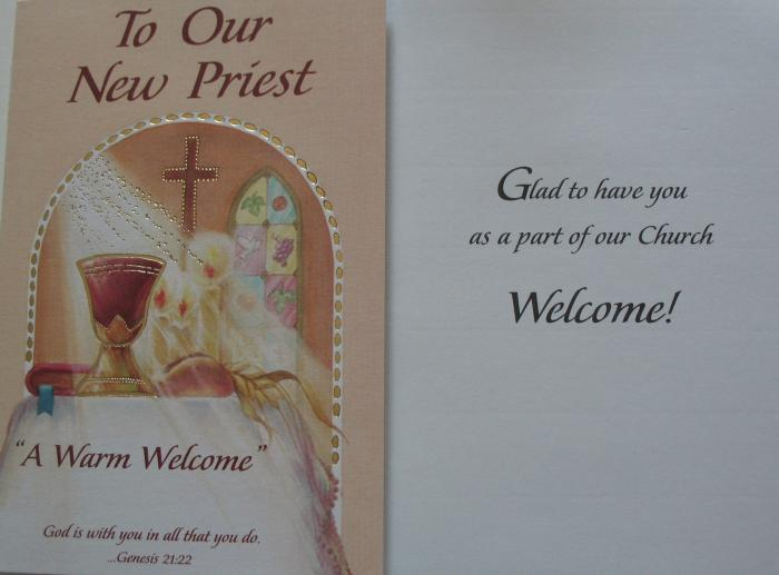 New Priest Welcome Greeting Card