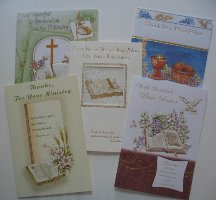 Appreciation / Thanks Greeting Cards - to Ministry, Nun, Pastor & Priest