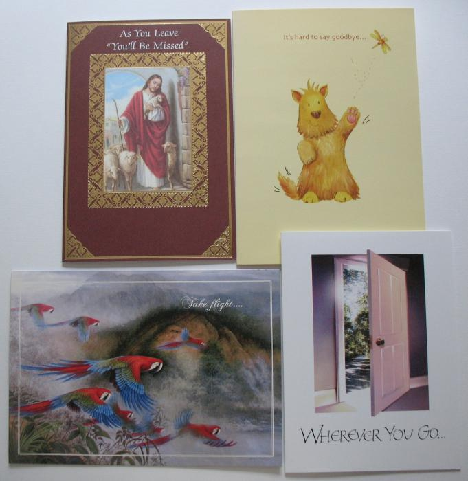 As You Leave / Goodbye  Greeting Cards