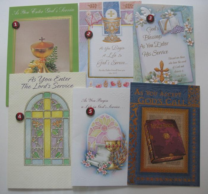 As You Enter God's Service - Greeting Cards