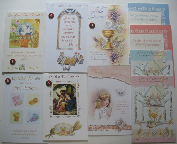 First Penance / Reconciliation Greeting Cards