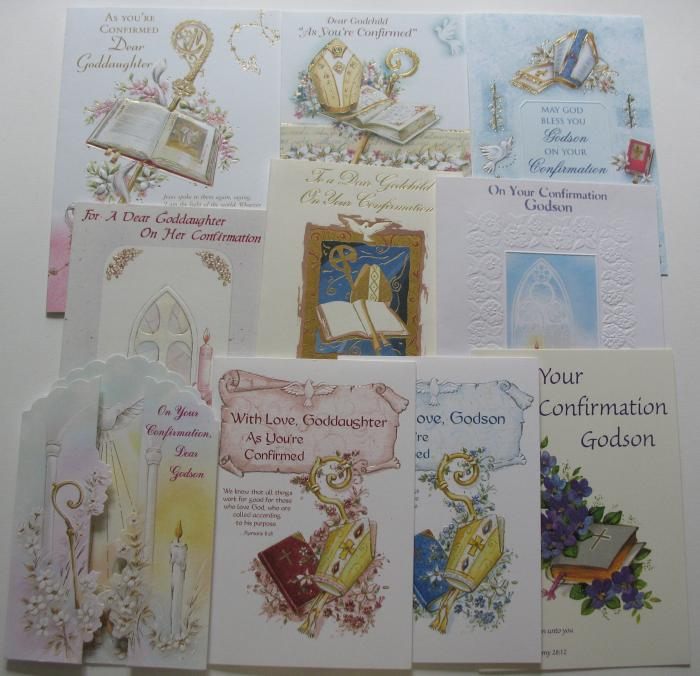 Confirmation - From Godparents Greeting Cards