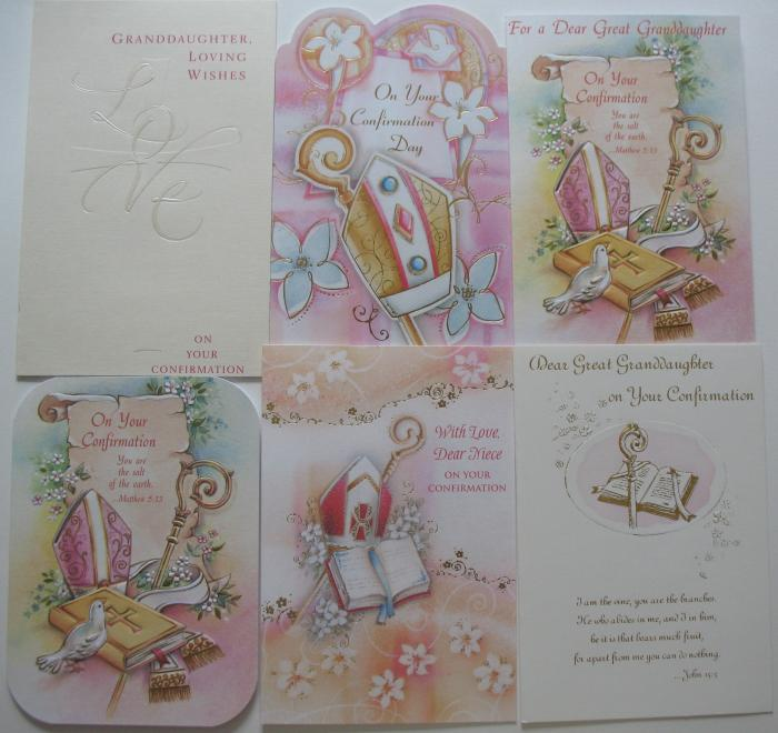 Confirmation - To Granddaughter, Great-Granddaughter, Niece, Girl Cards