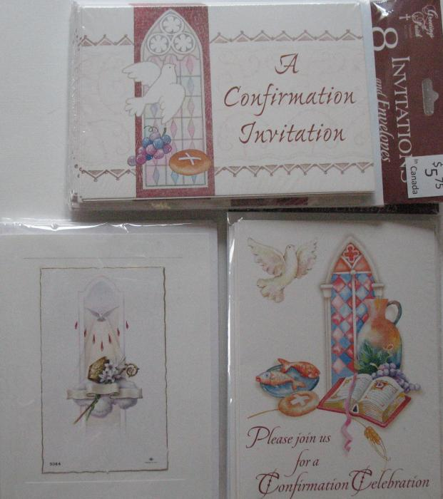 Confirmation Invitations - Package of 8