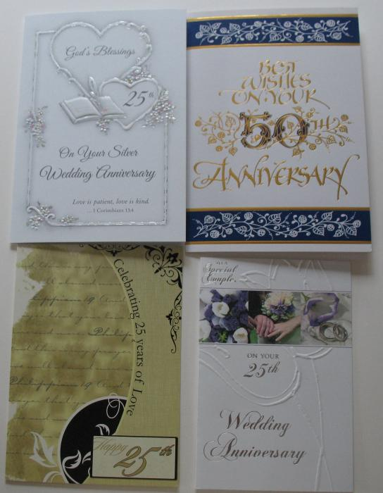 Anniversary - 25th ( Silver ) or 50th Greeting Cards