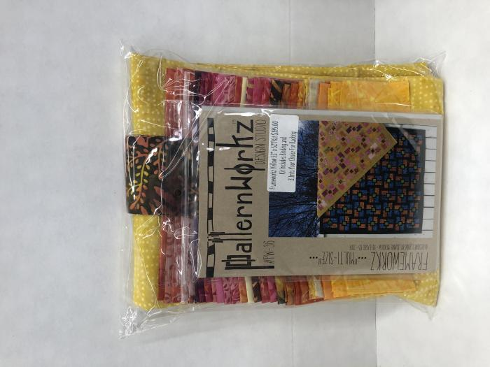 Frameworks Yellow, Pink, Orange Quilt Kit