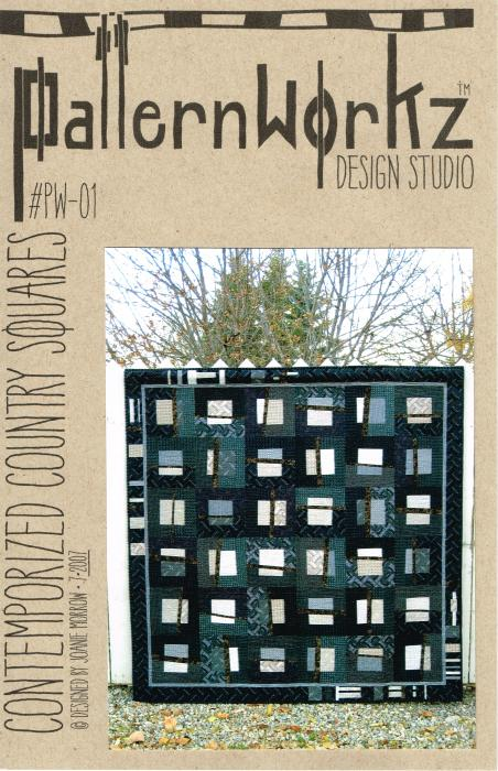PW-01 Contemporized Country Squares Dark Cover