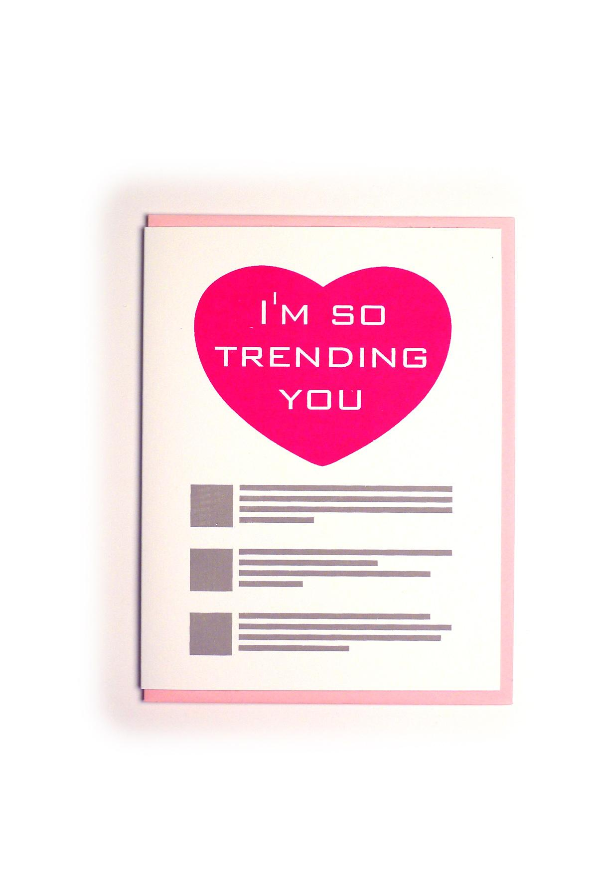 Kid Icarus - LOVE -  'I'm So Trending You' Greeting Card