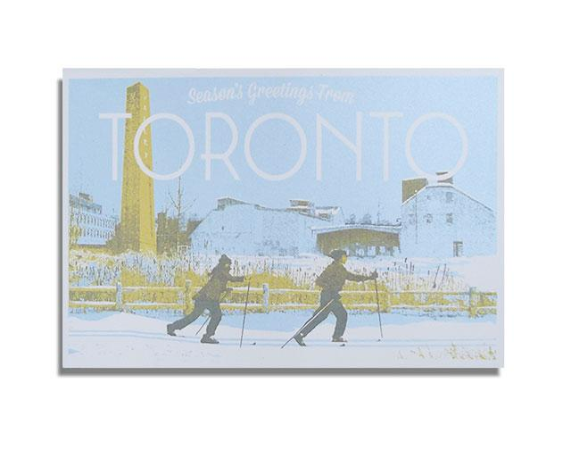 Kid Icarus Holiday - Season's Greetings from Toronto Skiing postcard