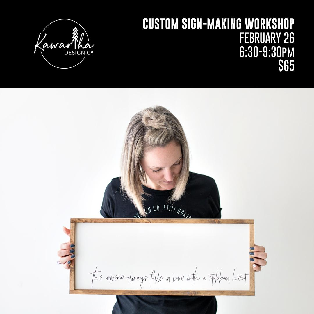 Custom Sign-Making Workshop - Feb 26 - $65