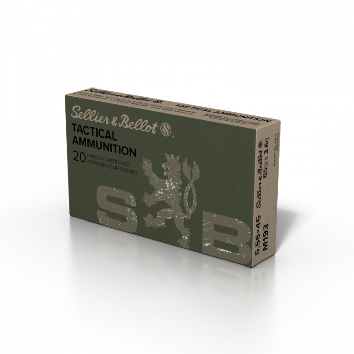 Sellier & Bellot 5,56 × 45 M193 55grs 3.6g Box of 20