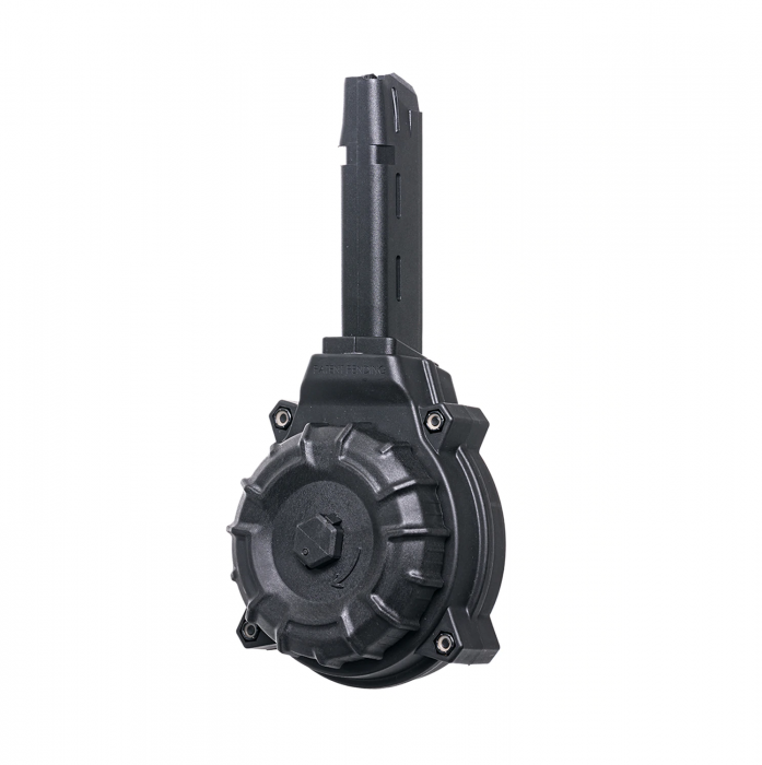 Pro Mag (50) Rd Black Polymer Drum Fits the Glock® Model 17 & 19 9mm
