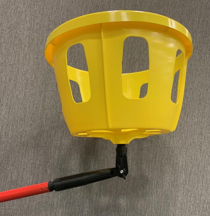 Basket Buddy with 9' extension pole - angle adapter NOT included