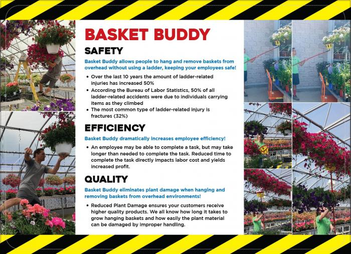 Basket Buddy ONLY - does NOT include extension pole or angle adapter