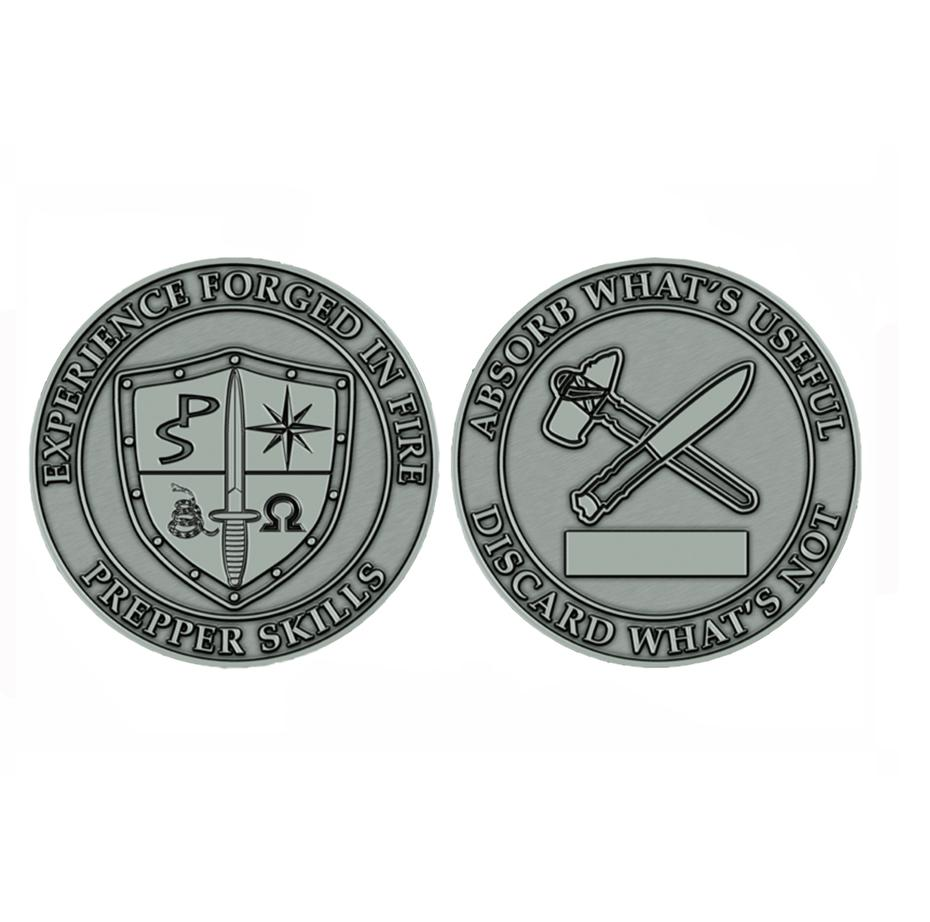 Prepper Skills Challenge Coin - Absorb What Is Useful; Discard What Is Not
