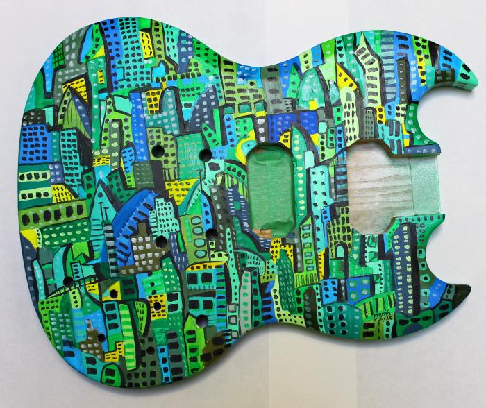 Custom guitar art