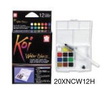 Koi Pocket Field Sketch Kit of 12 (with water brush)