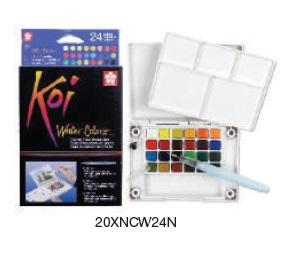 Koi Pocket Field Sketch Kit of 24 (with water brush)