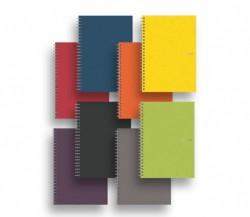 EcoQua Spiral Blank Page Notebooks - A4 Lime