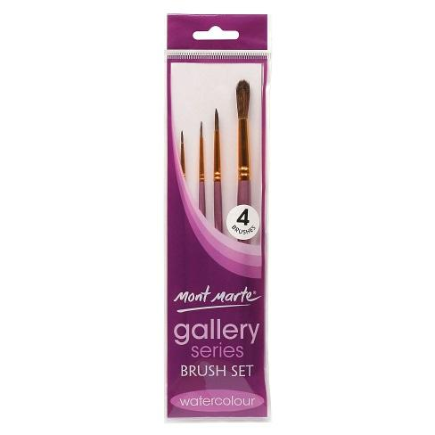Mont Marte Brush set - Watercolour Gallery Series 4 brushes