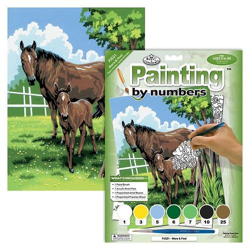 Royal Brush Junior Paint By Numbers Kit - Mare and Foal
