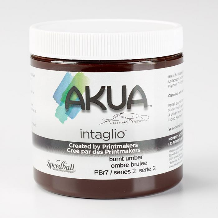 Akua Intaglio Ink - Burnt Umber 237ml 8oz