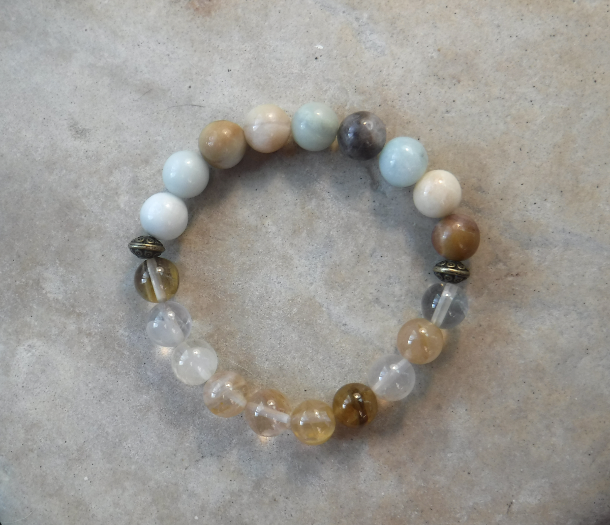 BE CREATIVE: Amazonite and Citrine