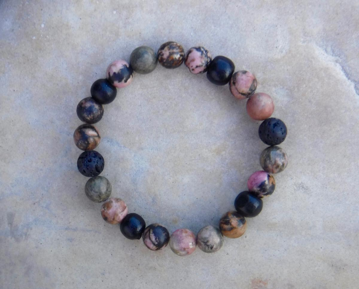 BE LOVED: Tri-Blend Pink Rhodonite